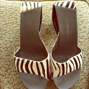 United Nude Shoes - Awesome United Nude  Zebra Striped Horsehair Mules