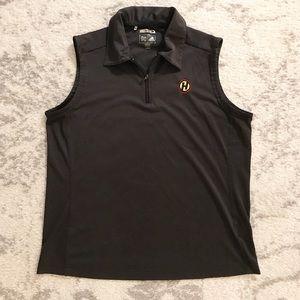 Charcoal gray Adidas ClimaCool golf vest/slipover