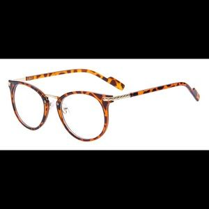 Accessories - New clear glasses with brown leopard frame