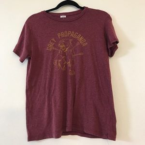 Obey Tops - Obey Maroon Shirt Size: Medium