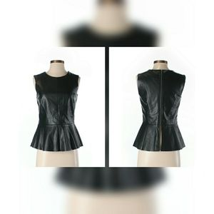 Black Co. Faux Leather Top
