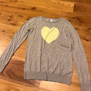 Heart design sweater