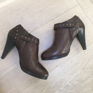 J.Crew Brown Leather Ankle Booties