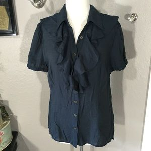 Daniel Cremieux Tops - Daniel Cremieux Navy Button Top Size L