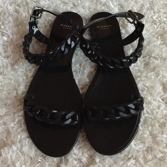 8d15ae020f76 Givenchy Shoes - Givenchy Chain-Link Jelly Sandals