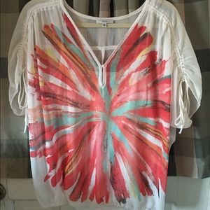 Halo Tops - Sheer blouse with tank underneath - size small