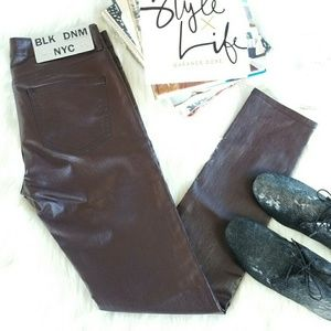 BLK DNM Denim - BLK DNM jeans 26 glossy coated skinny jeans