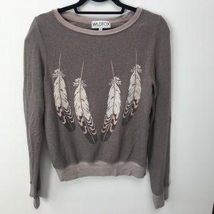 Wildfox feather sweatshirt