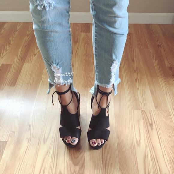 77160838dc1b Aldo Shoes - Black Aldo Lace Up Wedges Sandals Shoes NWOB