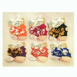 Baby Deer Other - Baby Deer Peep Toe Sock Grippers NB to 12 Months