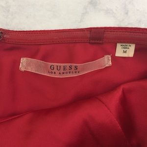 7f029d8d62 Guess Tops - Guess Sleeveless Red Velvet Peplum Tube Top