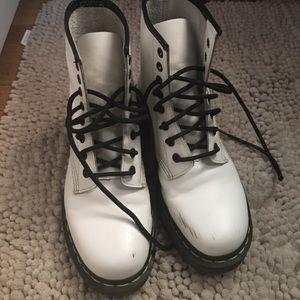 Dr. Martens Shoes - White Dr. Marten's boots womens