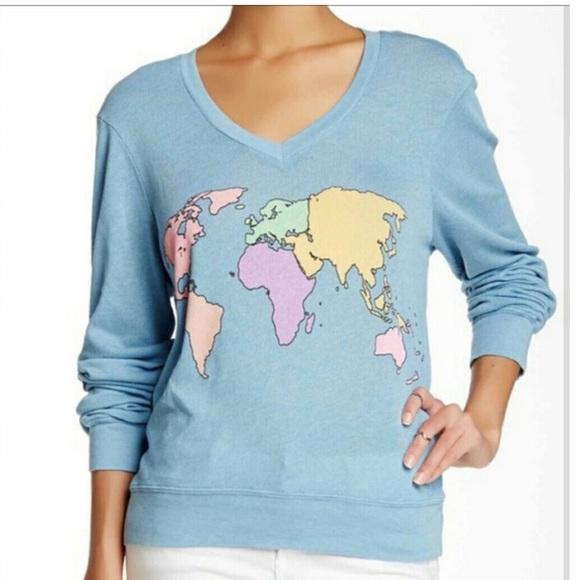 World Map Sweater.Wildfox Sweaters World Map Sweater Poshmark
