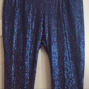 Society Plus Pants - Sequin Pull On Pant