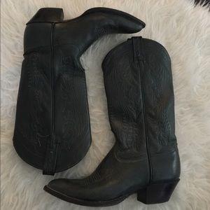 Tony Lama Shoes - Tony Lama deep green cowboy boots. Cowgirl boots
