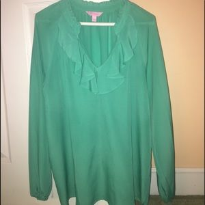 Lilly pulitzer green blouse