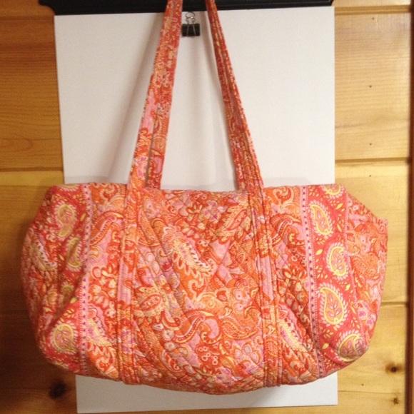 Vera Bradley Handbags - Vera Bradley orange sherbet travel bag tote
