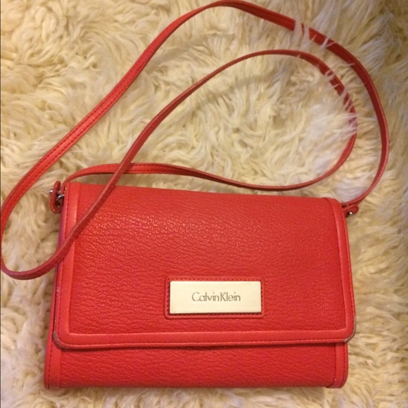 Calvin Klein Handbags - Calvin Klein Purse - Coral Red Small