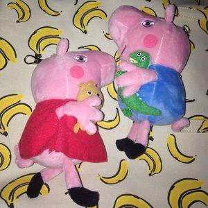 Peppa Pig Other - Peppa Pig keychain set