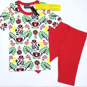 Coccoli Other - Coccoli Red Flower Cotton PJs