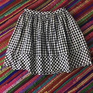 Norma Kamali Dresses & Skirts - Norma Kamali Navy Check Skirt with Pockets Sz 4