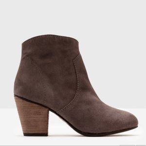Boden Shoes - Boden Suede Boho High Heel Ankle Booties with Zip