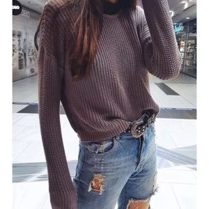 Brandy Melville Sweaters - BNWOT Rare Brandy Melville Bronx Lavender Sweater