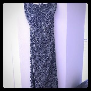 Black and white maxi dress!