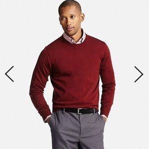 Uniqlo Other - EUC Uniqlo Merino Crewneck Sweater - Wine, size L