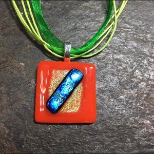 Jewelry - Handmade Dichroic pendant