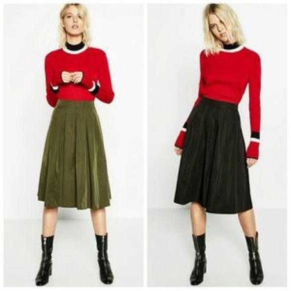 6f44acf7 Zara Reversible Midi Flounce Skirt. M_590e9533a88e7dccd602be25