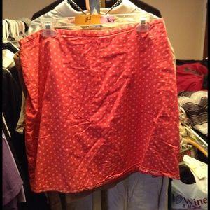 Pink polka dot skirt Sz 14 or 16