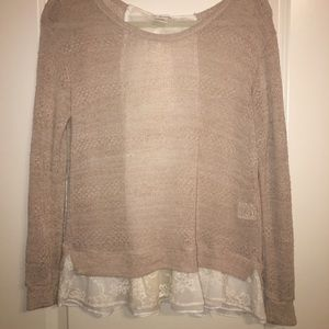 Anthropologie Bow Sweater Top