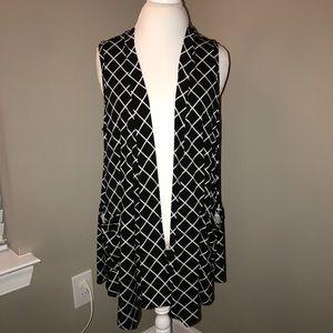 Open front vest tunic
