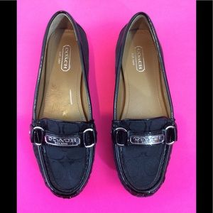"COACH "" Leather & Textile "" LOAFER  sz 6B"