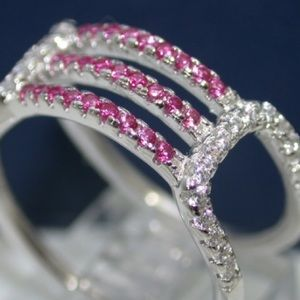 Samuelle & Co. Jewelry - Solid .925 Sterling Silver Ruby & Sapphire Ring