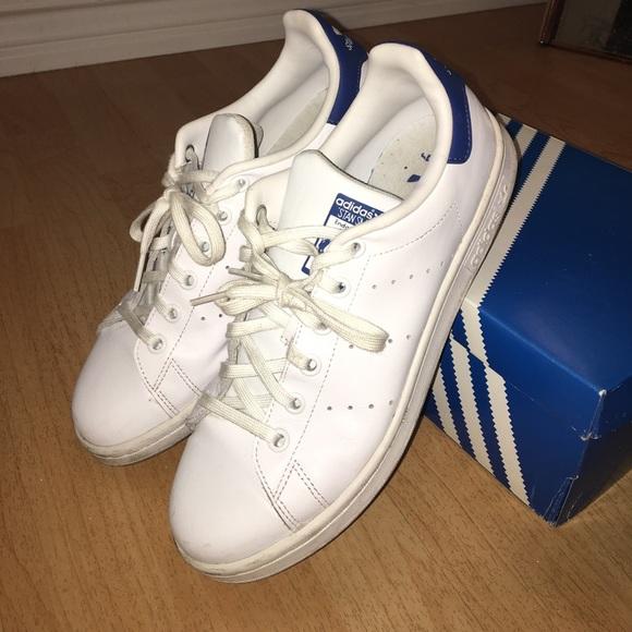 adidas schuhe stan smith turnschuhe blue 8 12 poshmark