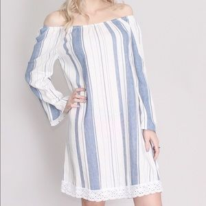 Dresses & Skirts - Striped Off Shoulder Dress