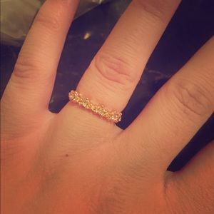 Dainty Gold Filled CZ Ring