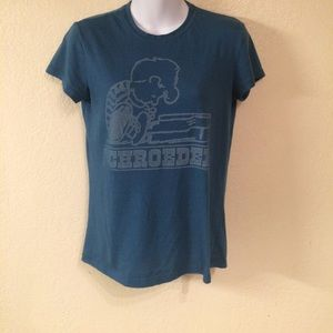 Peanuts Tops - Peanuts (Snoopy) Schroeder Tee Shirt Quote Back, L