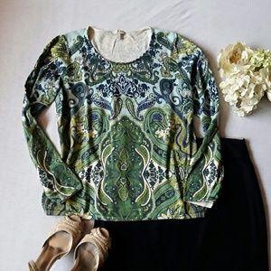 Talbots Sweaters - Talbots paisley print sweater L