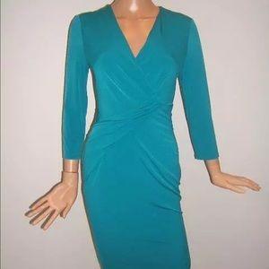 New Karl Lagerfeld 4 6 10 Teal blue green dress