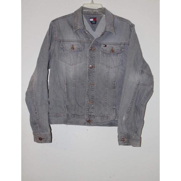 tommy hilfiger jackets coats vintage tommy hilfiger distressed. Black Bedroom Furniture Sets. Home Design Ideas