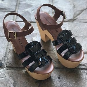 Chinese Laundry Shoes - Wooden Strappy Clogs