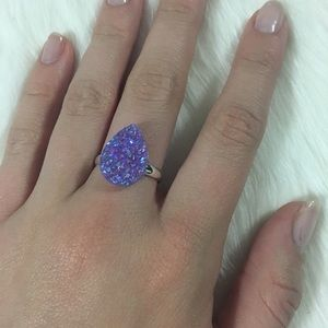 Jewelry - 3 for $18 Handmade lavender Druzzy ring