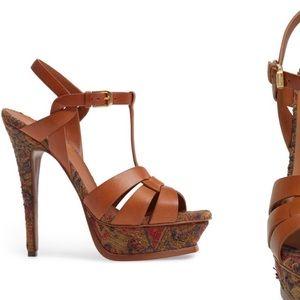 Yves Saint Laurent Shoes - YSL Tribute - tapestry heels