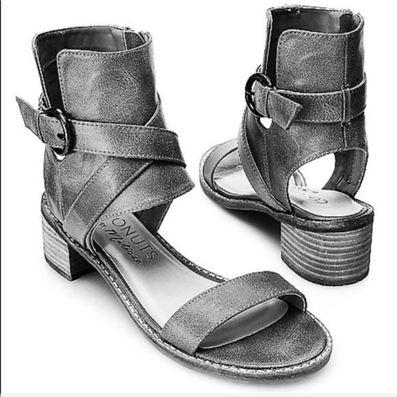 6fef68a2174 Black Western Buckle Block Heel Sandal