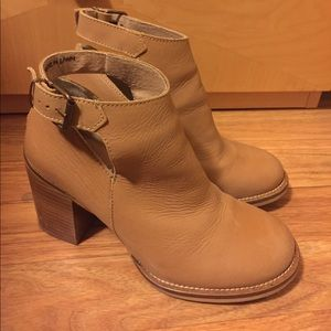 Musse & Cloud Tan Cutout Booties - Size 37