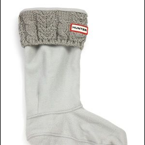 Hunter Other - Hunter kids boot socks, grey cable knit  socks, L
