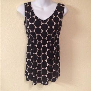 Tops - Cha Cha Black and White Polka Dot Shirt, S